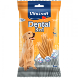 Recompensa pentru caini Vitakraft Dental Snack 3in1 Medium 180 g